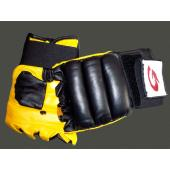 Black and Yellow MMA Gloves
